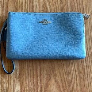 Small double sided wristlet